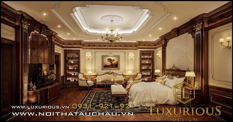 Phòng ngủ mang phong cách cổ điển Việt Nam