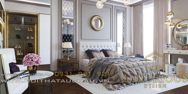 Phòng ngủ Master tân cổ điển hiện đại sang trọng