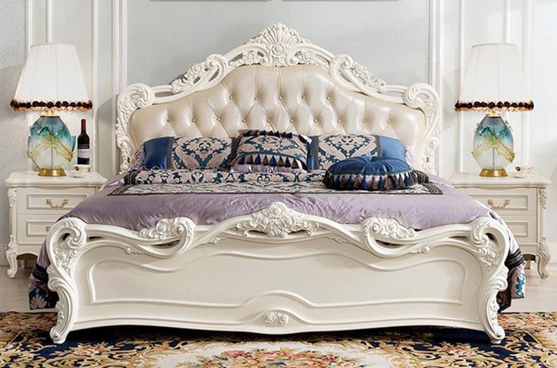 Vẻ đẹp giường ngủ tân cổ điển đến từ những đường nét tinh tế