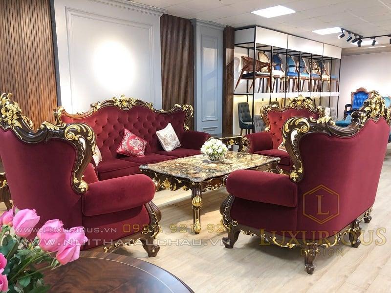 Sofa phong cách cổ điển Ý