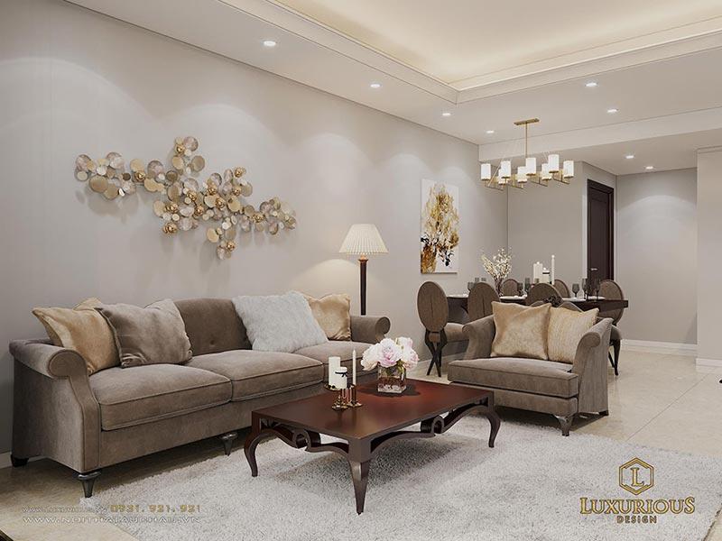 Sofa tân cổ điển cho phòng khách nhỏ