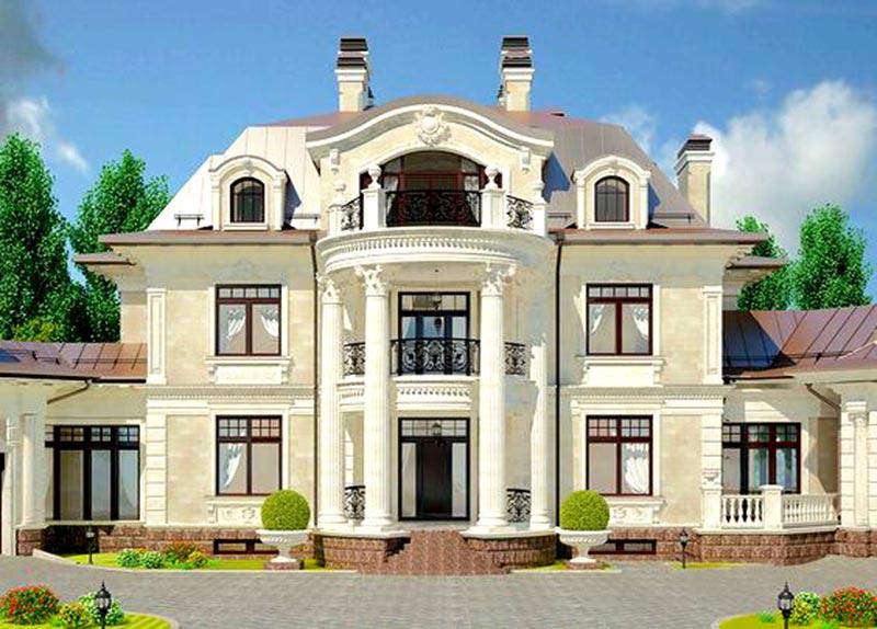 Mẫu dinh thự 2 tầng theo phong cách cổ điển