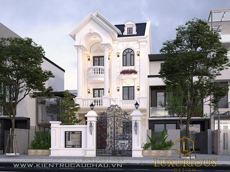 Mẫu kiến trúc biệt thự nhà phố