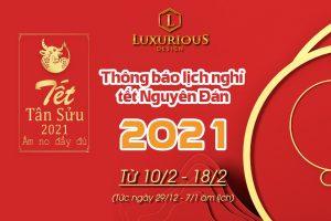 Luxurious Design thông báo nghỉ tết năm 2021