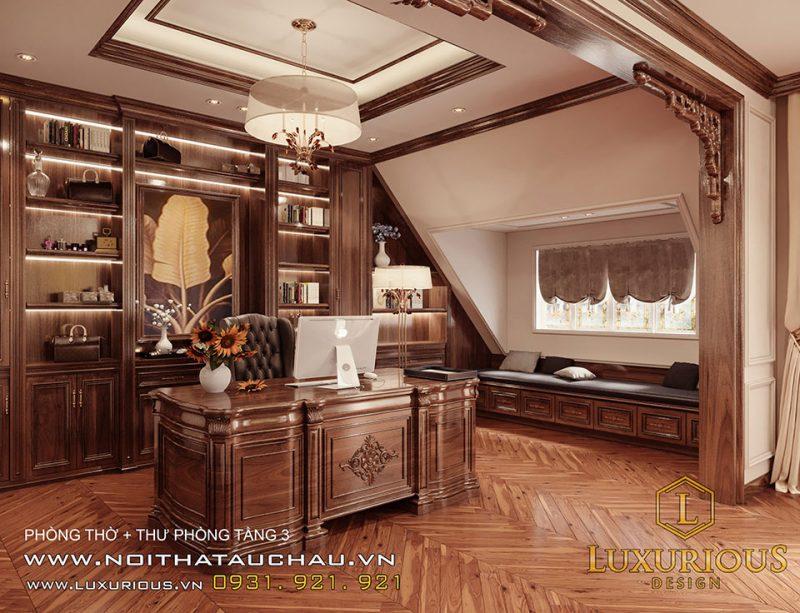 Thiết kế nội thất thư phòng biệt thự Liền kề Geleximco