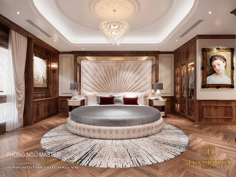 Thiết kế nội thất phòng ngủ biệt thự sang trọng