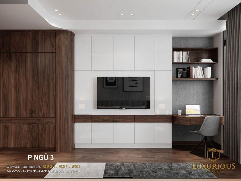 Thiết kế nội thất nhà phố phòng ngủ hiện đại