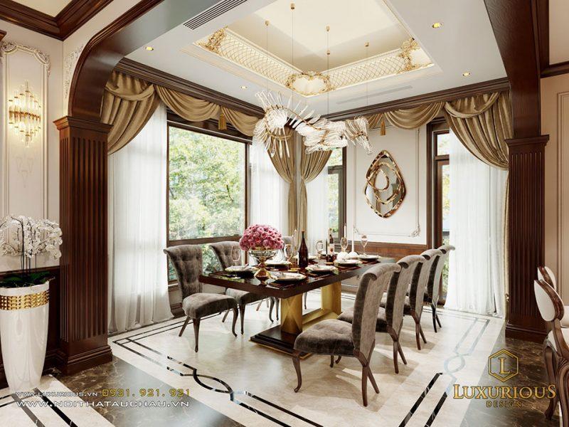 Thiết kế nội thất biệt thự Liền kề Geleximco tân cổ điển
