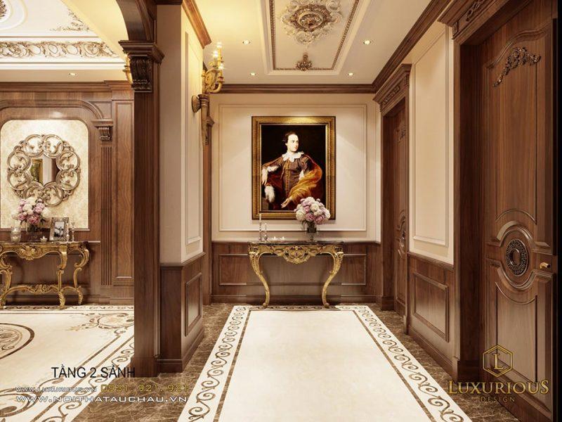 Sảnh tầng 2 - thiết kế nội thất cổ điển