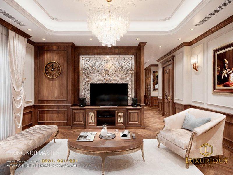 Phòng ngủ Master - Thiết kế nội thất phong cách cổ điển