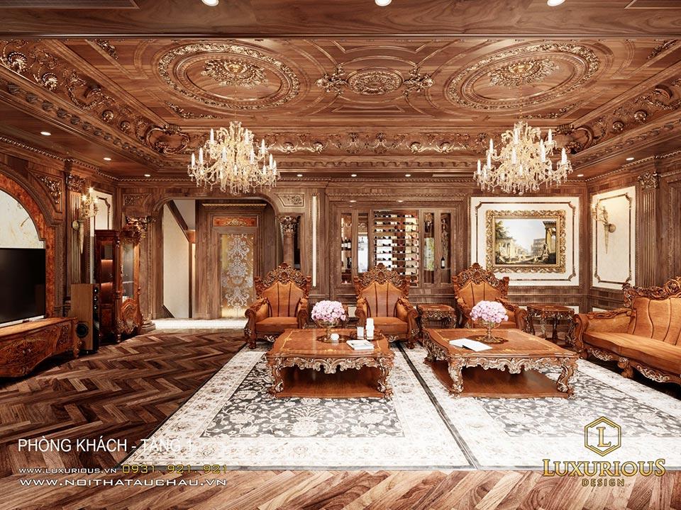 Thiết kế nội thất biệt thự cổ điển châu Âu đẹp