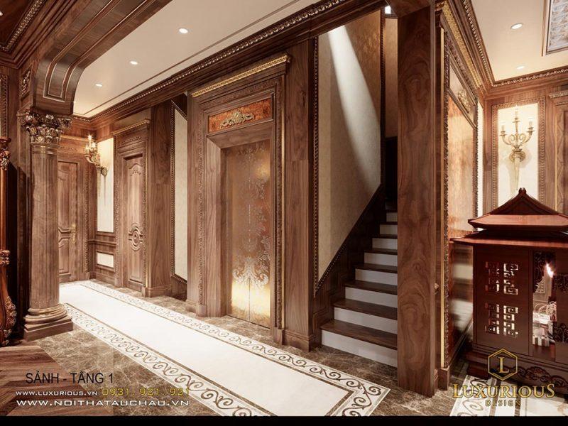 Thiết kế nội thất cổ điển phong cách châu âu