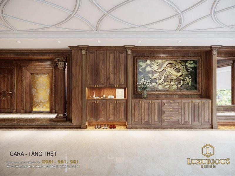 Thiết kế nội thất tầng trệt tân cổ điển