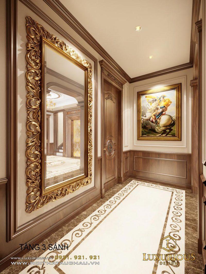 Sảnh tầng 3 - thiết kế nội thất cổ điển Châu âu