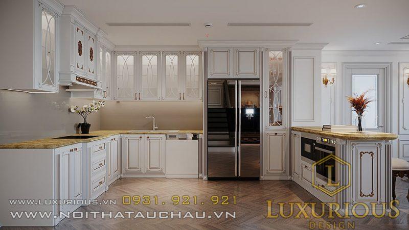 Phòng Bếp rộng rãi, nhiều tiện nghi được tích hợp