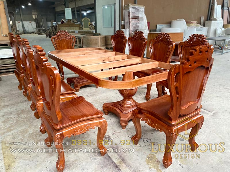 Bàn ghế ăn đẹp gỗ sồi