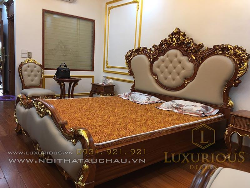 Mẫu giường ngủ đẹp tại nhà máy Mộc Minh Đức - Luxurious Design