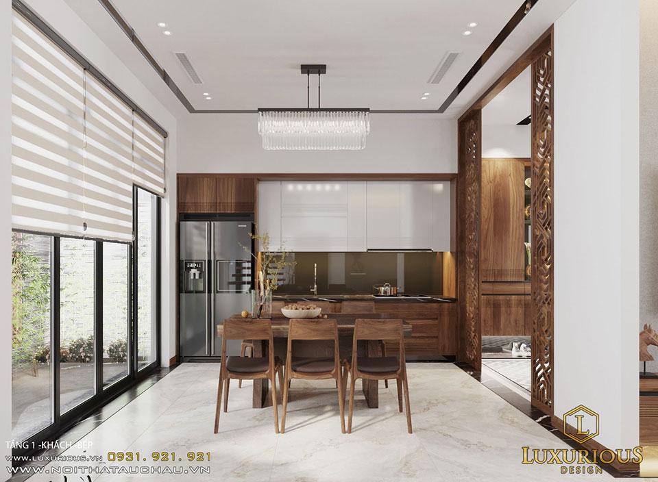 Phòng ăn mang phong cách hiện đại