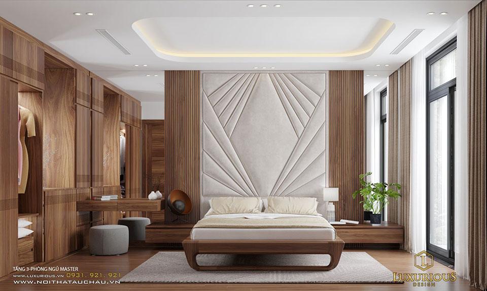 Phòng ngủ Master hiện đại Vinhome