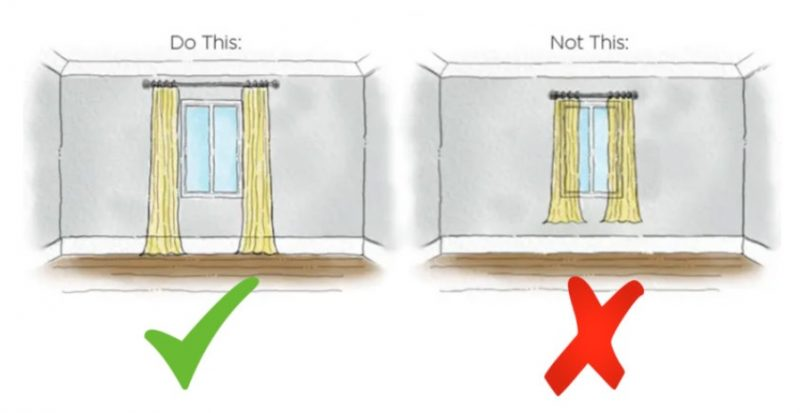 Sử dụng rèm cửa cao hơn và rộng hơn cho chung cư diện tích nhỏ