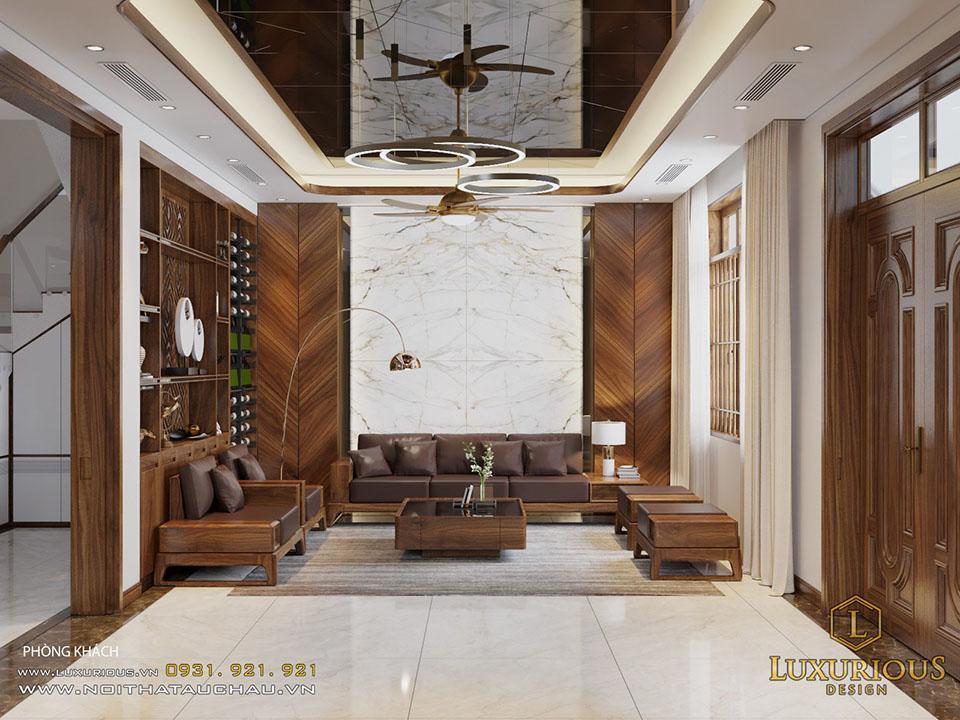 Thiết kế nội thất nhà phố hiện đại thanh hoá