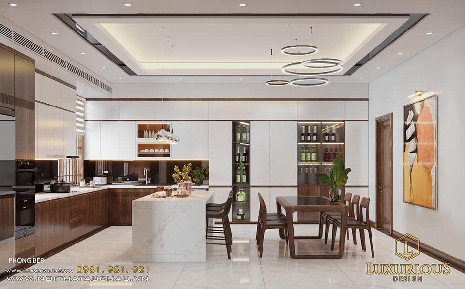 Phòng bếp nhà phố hiện đại