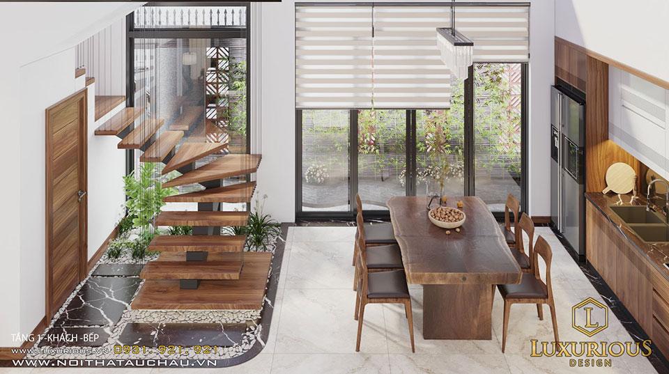 Thiết kế phòng bếp biệt thự Vinhomes Sao biển