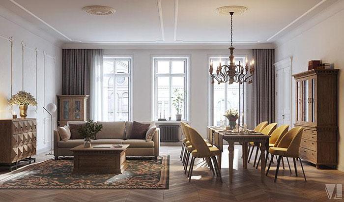 Căn phòng chỉ sử dụng những đồ nội thất thiết yếu, cơ bản