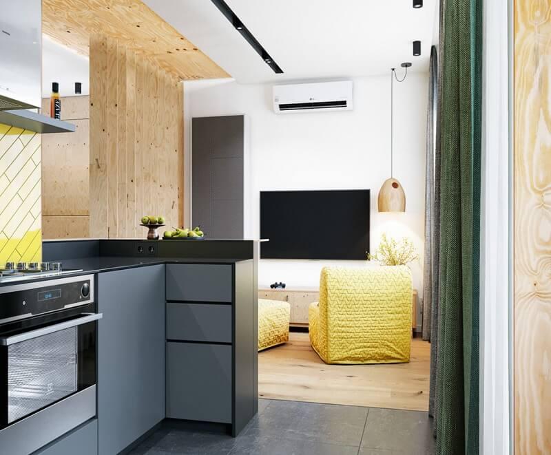 Không gian sinh hoạt chung của chung cư diện tích nhỏ