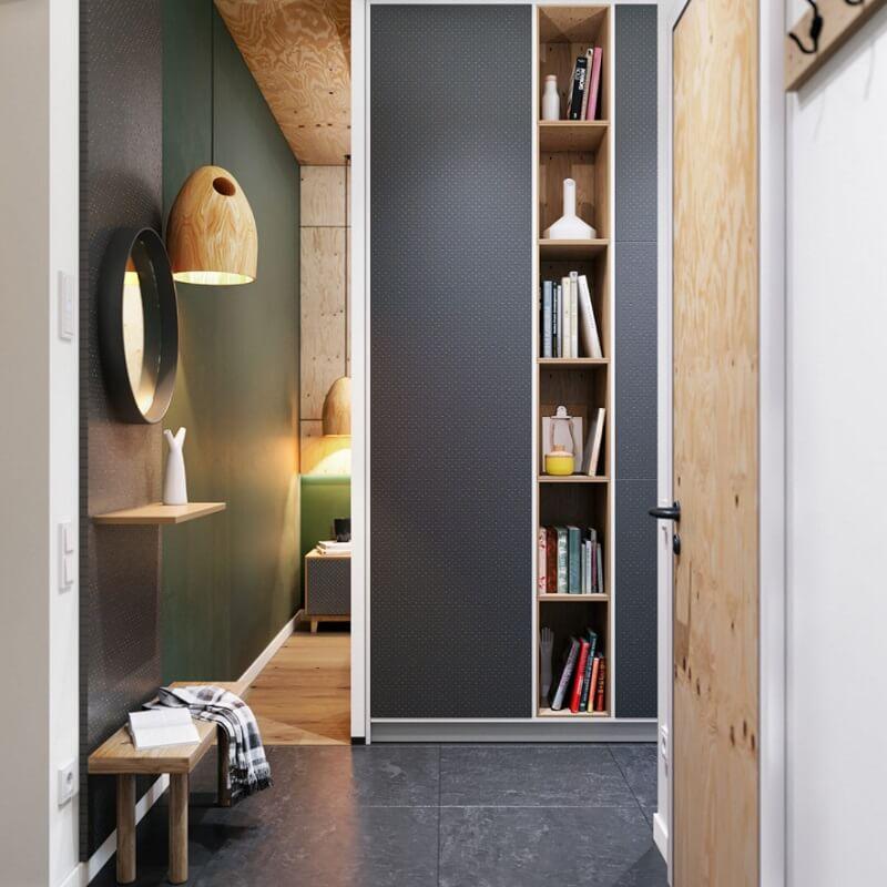 Lối vào căn hộ và phòng ngủ