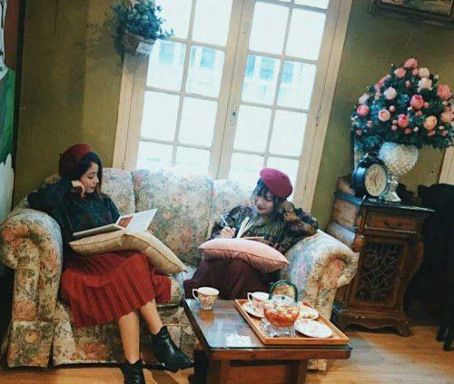 quán cafe phong cách cổ điển Hà Nội