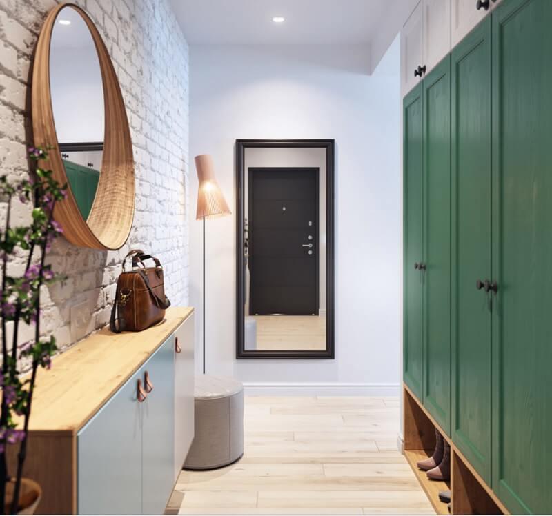 Thiết kế lối vào căn hộ chung cư 35m2