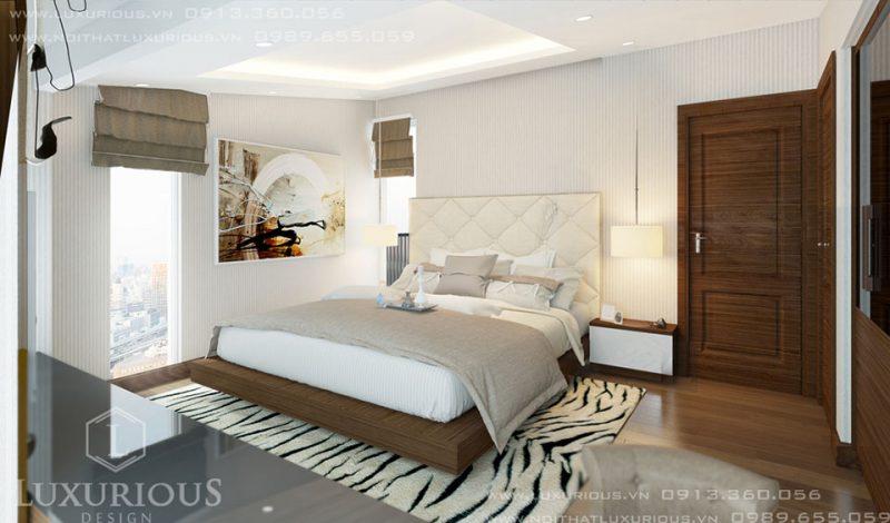 Phòng Ngủ Với Tone Màu Trắng Xám