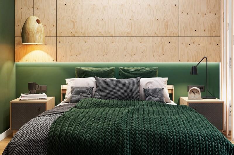 Thiết kế nội thất phòng ngủ chung cư diện tích nhỏ 30m2