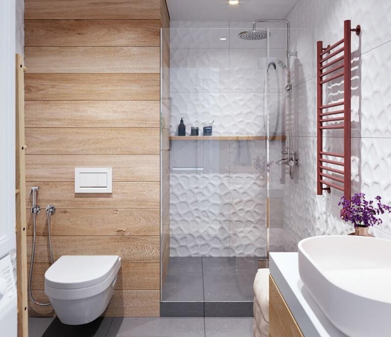 Thiết kế nội thất phòng tắm chung cư diện tích nhỏ 35m2