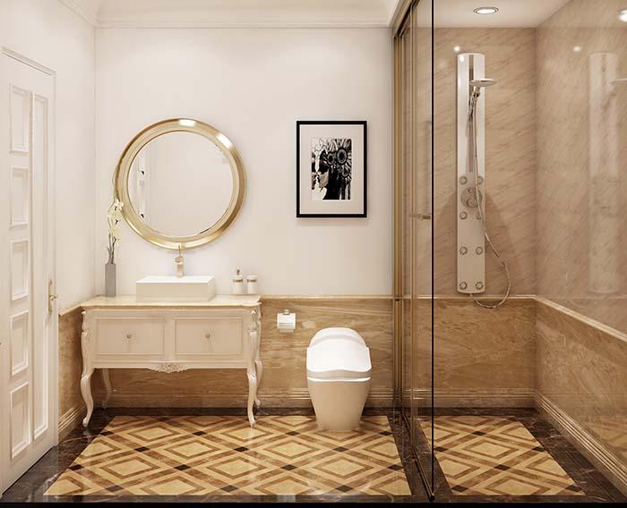 Thiết kế phòng tắm đẹp, sang trọng.