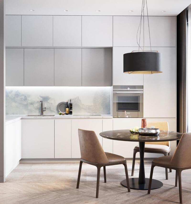 Thiết kế phòng bếp chung cư 50m2