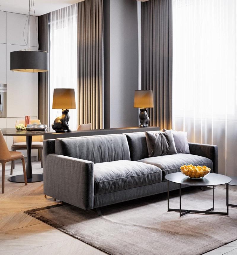 Thiết kế phòng khách chung cư 50m2