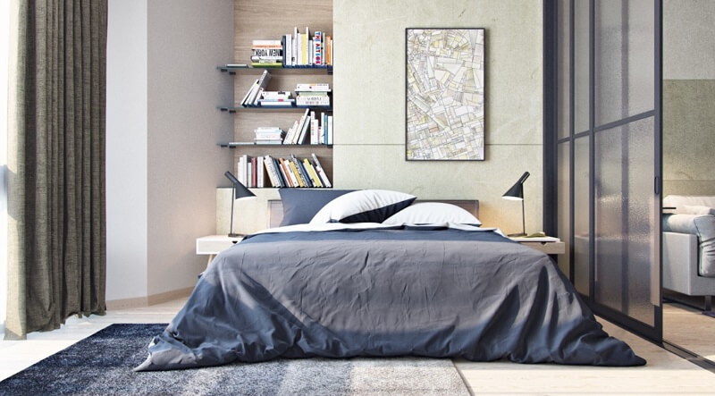 Thiết kế phòng ngủ chung cư 45m2