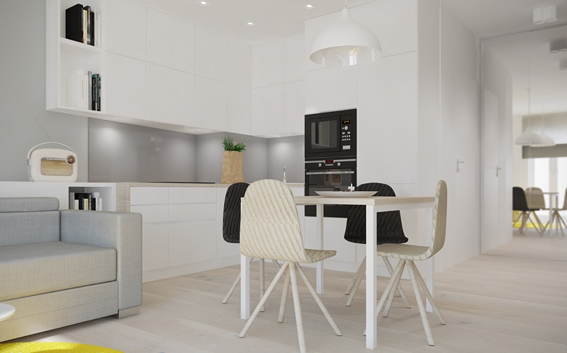 Thiết kế tủ bếp chung cư 40m2
