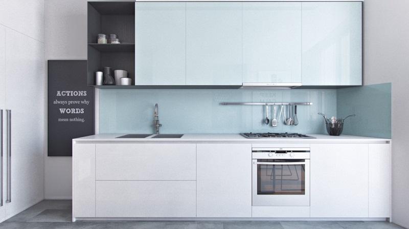 Thiết kế tủ bếp chung cư 45m2