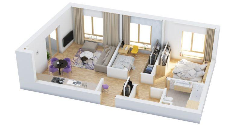 thiết kế nội thất nhà cấp 4 gác lửng