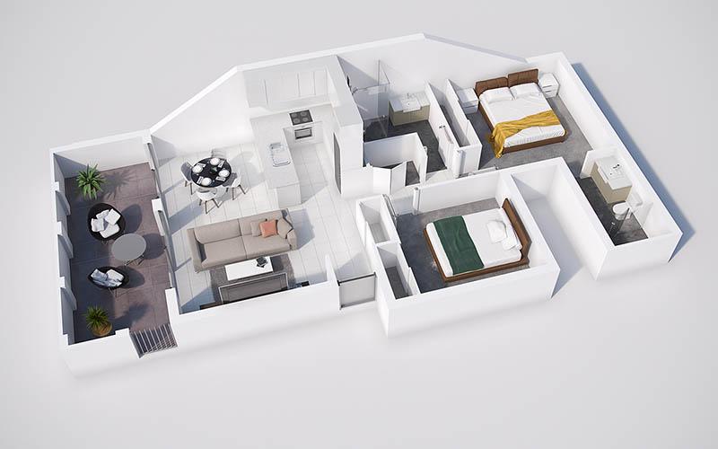 thiết kế nội thất nhà cấp 4 gác lửng đep
