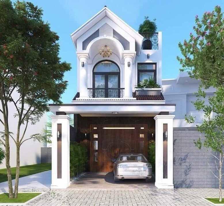 Căn nhà 2 tầng thiết kế tân cổ điển