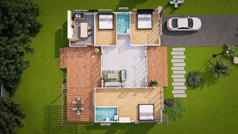 thiết kế nội thất nhà cấp 4 đẹp