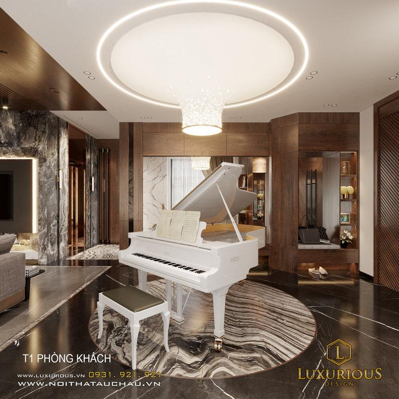 Thiết kế nội thất biệt thự Ngọc Trai đơn lập