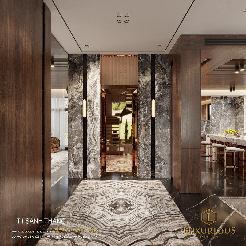 Thiết kế khu vực sảnh thang máy