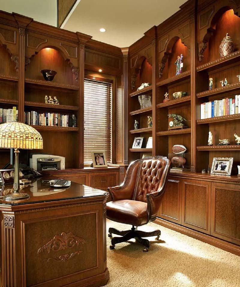 Mẫu phòng làm việc cổ điển châu Âu đẹp tại nhà