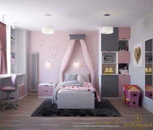 mẫu thiết kế phòng ngủ cho bé trai bé gái đẹp dễ thương