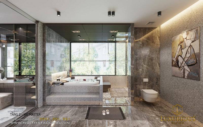 Phòng WC nhà biệt thự đơn lập
